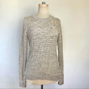 EUC Open Knit Cozy Ribbed Wool Sweater